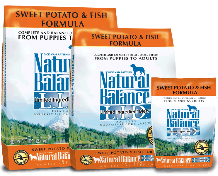Natural Balance L.I.D. Limited Ingredient Diets Sweet Potato & Fish Formula Grain-Free Dry Dog Food, 15-lb
