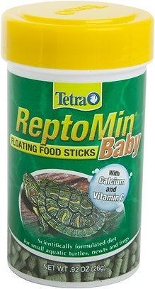Tetra ReptoMin Baby Floating Sticks Turtle & Amphibian Food, 0.92-oz jar Image