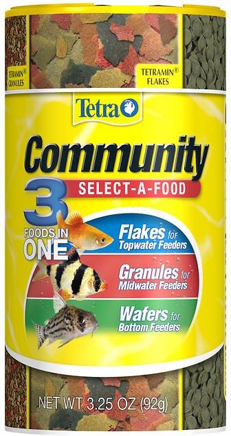 Tetra Community Select A Food Tropical Fish Food 3 25 Oz Jar Pet House