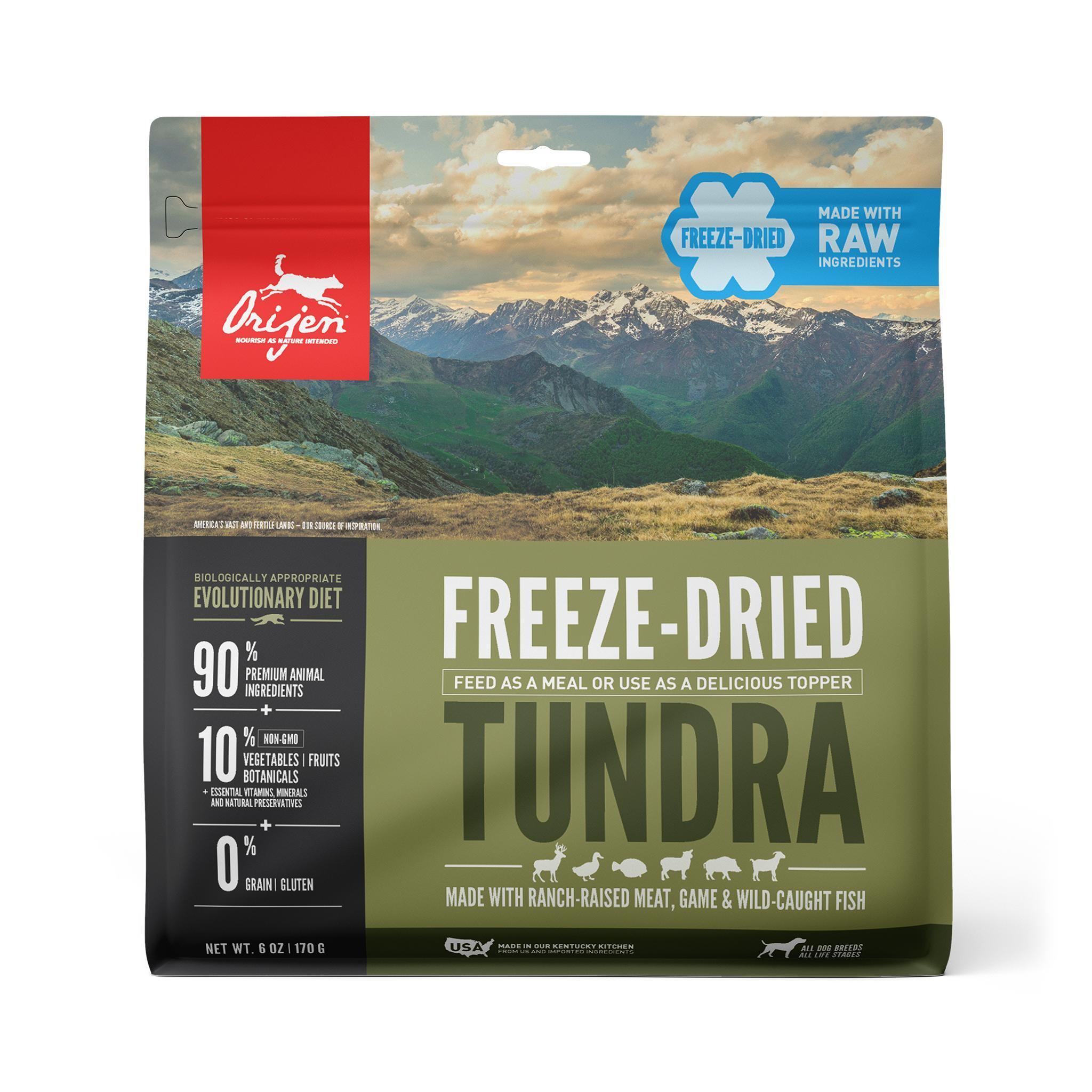 ORIJEN Tundra Grain-Free Freeze-Dried Dog Food, 6-oz