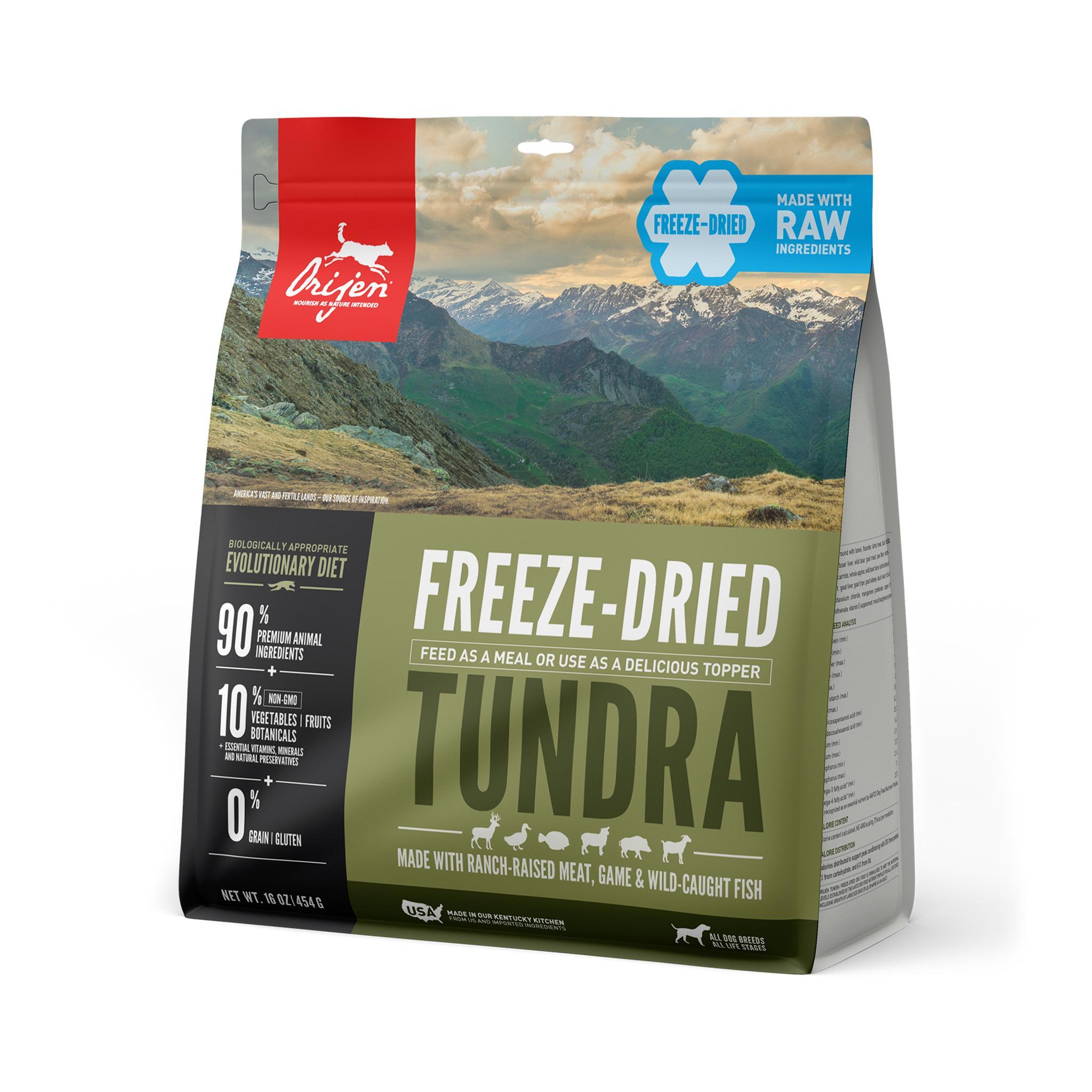 ORIJEN Tundra Grain-Free Freeze-Dried Dog Food, 16-oz