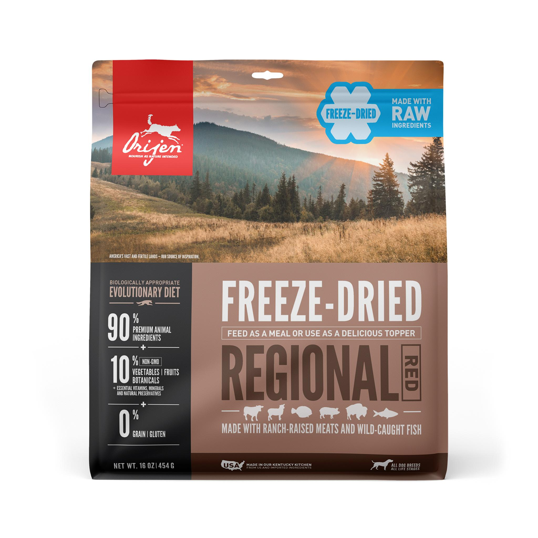 ORIJEN Regional Red Grain-Free Freeze-Dried Dog Food, 16-oz
