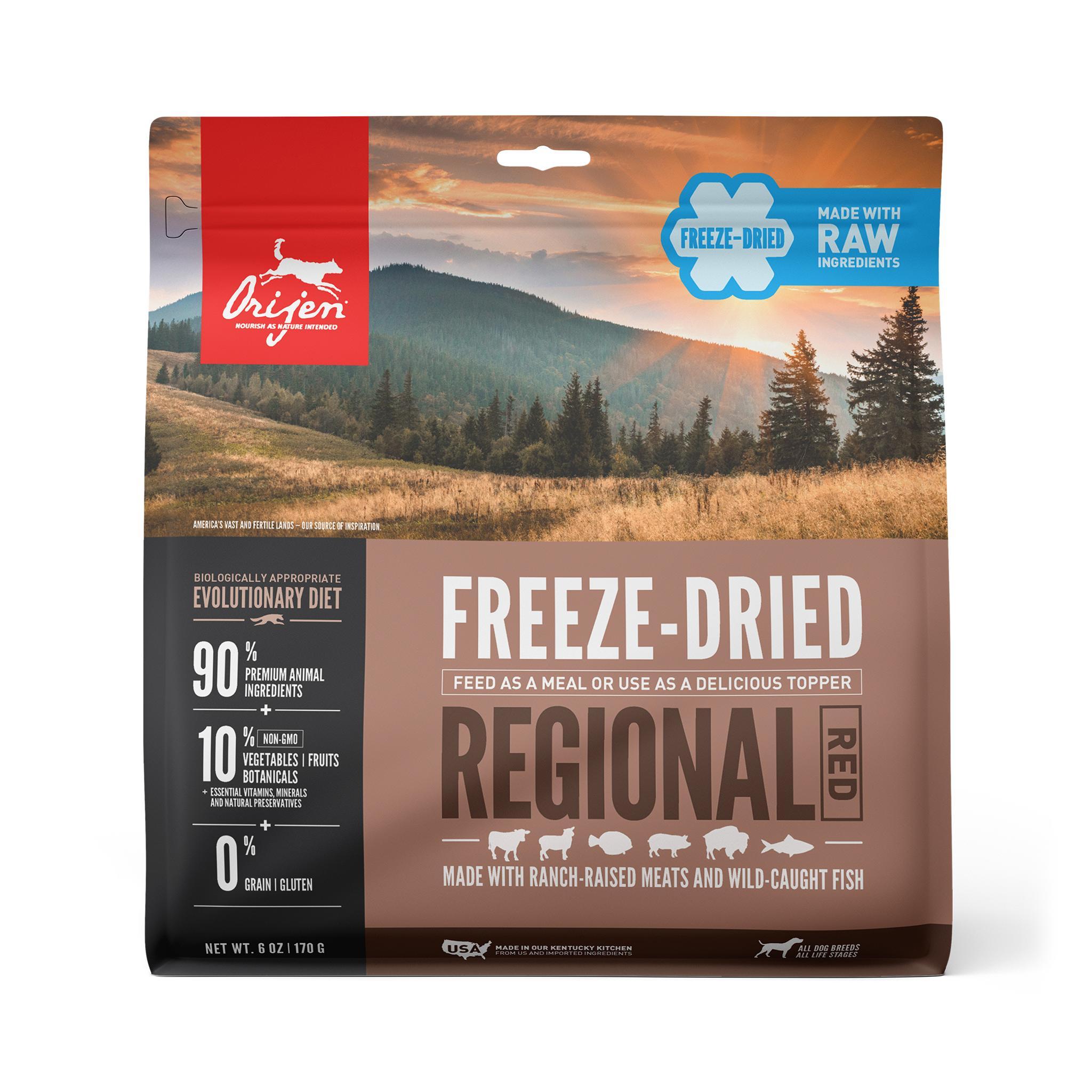 ORIJEN Regional Red Grain-Free Freeze-Dried Dog Food, 6-oz Size: 6-oz