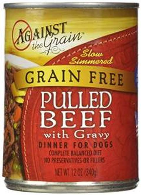 Against the Grain Pulled Beef with Gravy Grain-Free Wet Dog Food Image