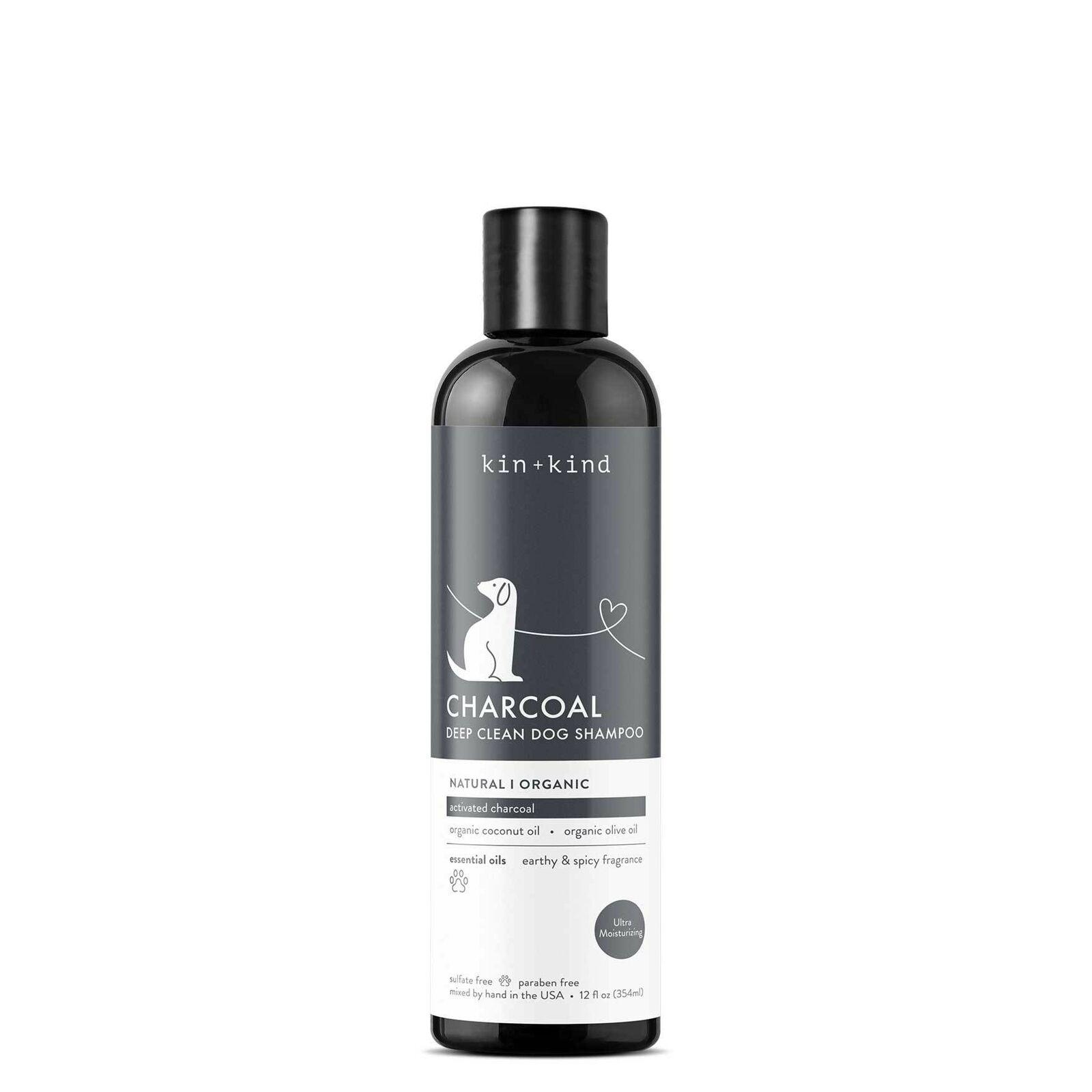 kin+kind Charcoal Deep Clean Dog Shampoo, 12-oz (Size: 12-oz) Image