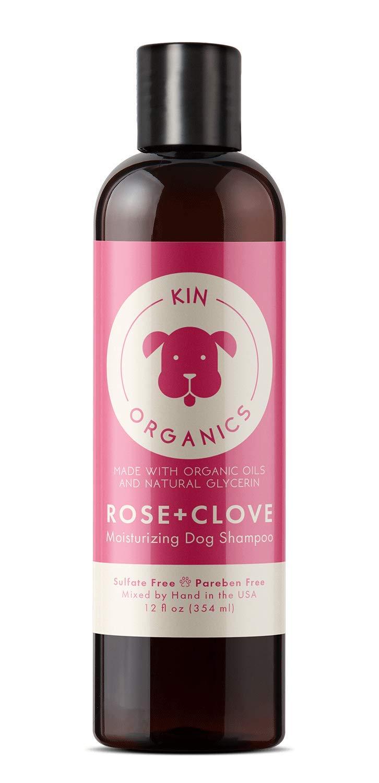 kin+kind Kin Organics Rose + Clove Moisturizing Dog Shampoo, 12-oz