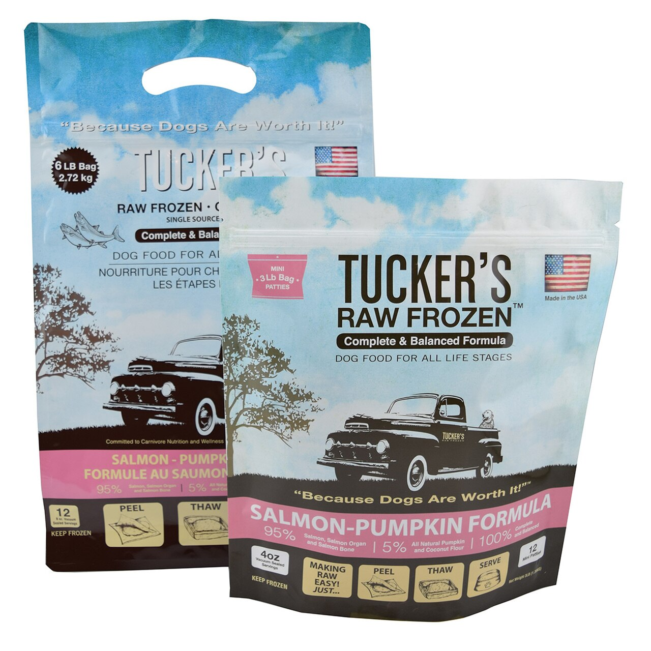 Tucker's Raw Frozen Grain-Free Salmon & Pumpkin Formula Raw Frozen Dog Food, 3-lb