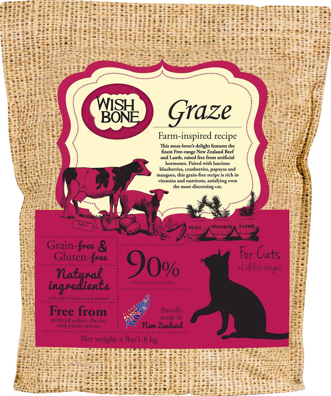 Wishbone Graze Grain-Free Dry Cat Food, 4-lb