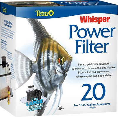 Tetra Whisper Power Filter for Aquariums, Size 20