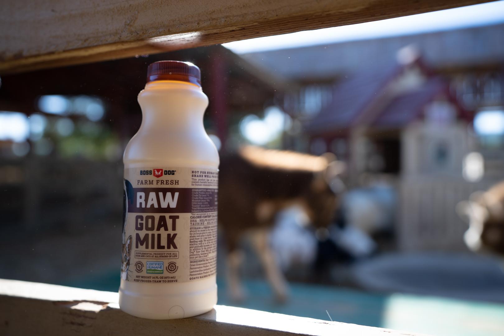 Boss Dog Farm Fresh Raw Goat Milk with Taurine Dog Treats, 32-fl-oz