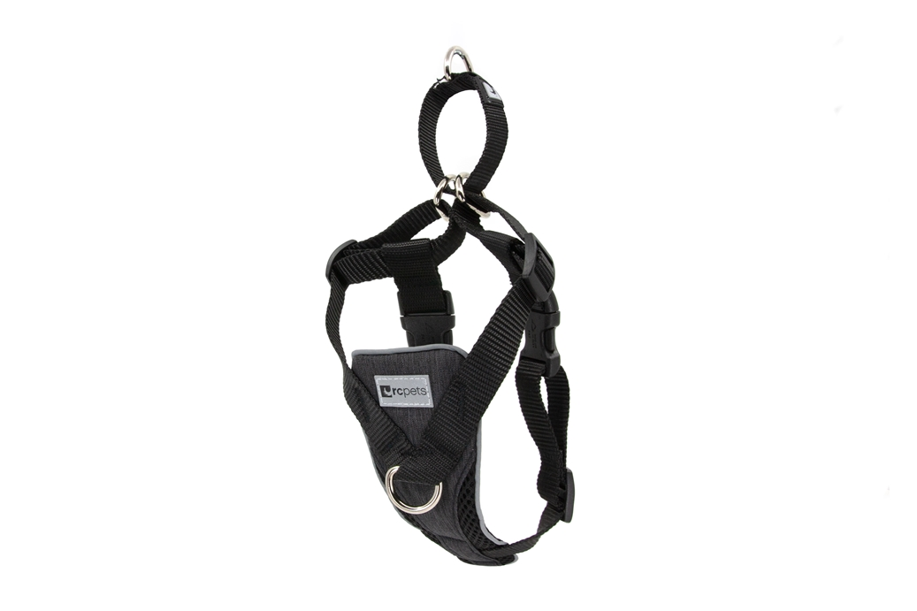 RC Pets Products Tempo No Pull Heather Black Dog Harness