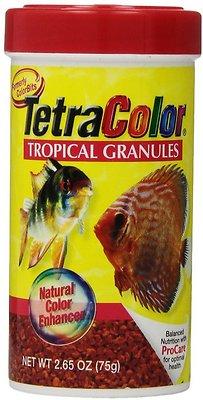 Tetra Color Tropical Granules Fish Food, 2.65-oz jar