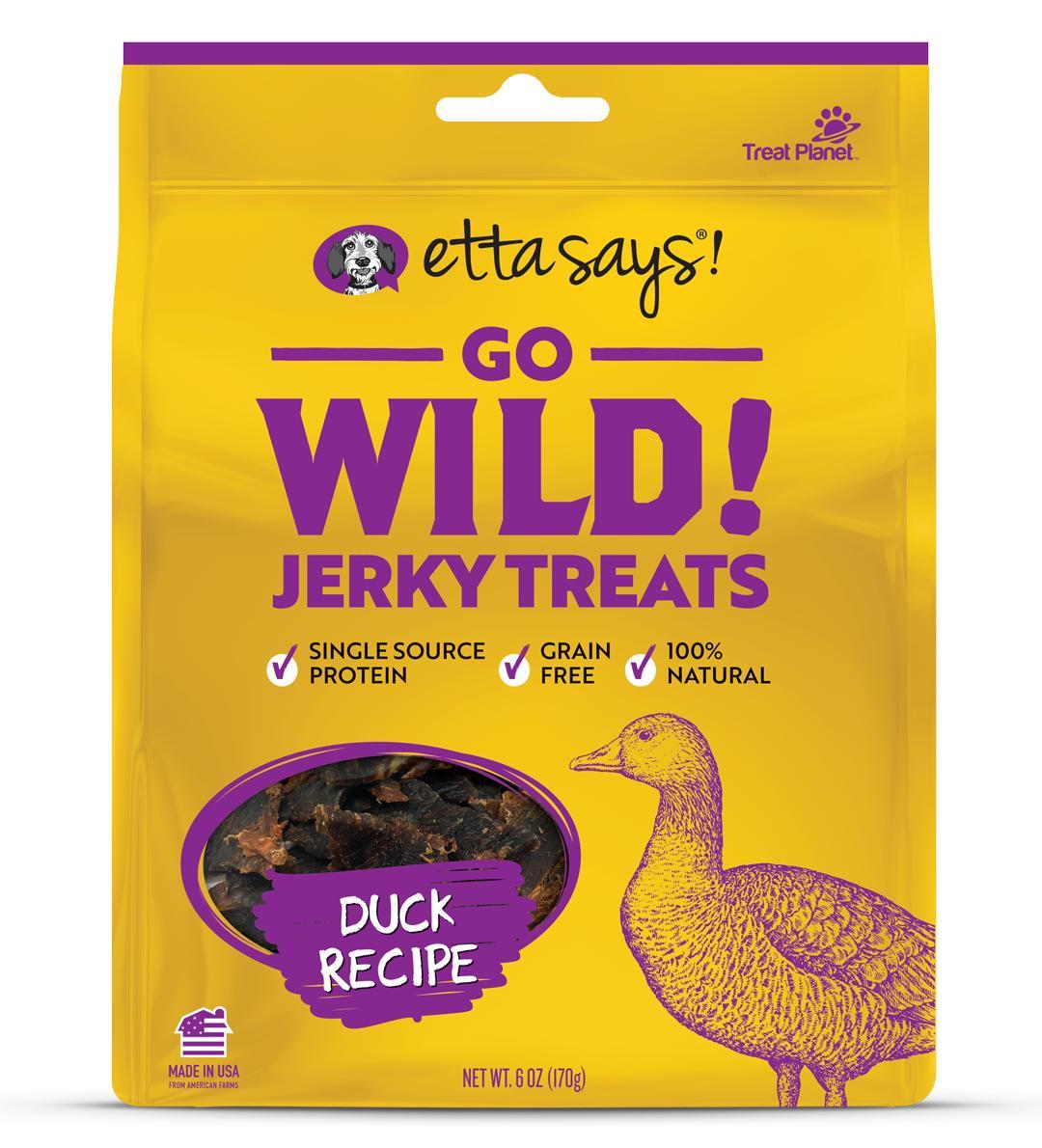 Etta Says! Go Wild! Duck Recipe Dog Treats, 6-oz