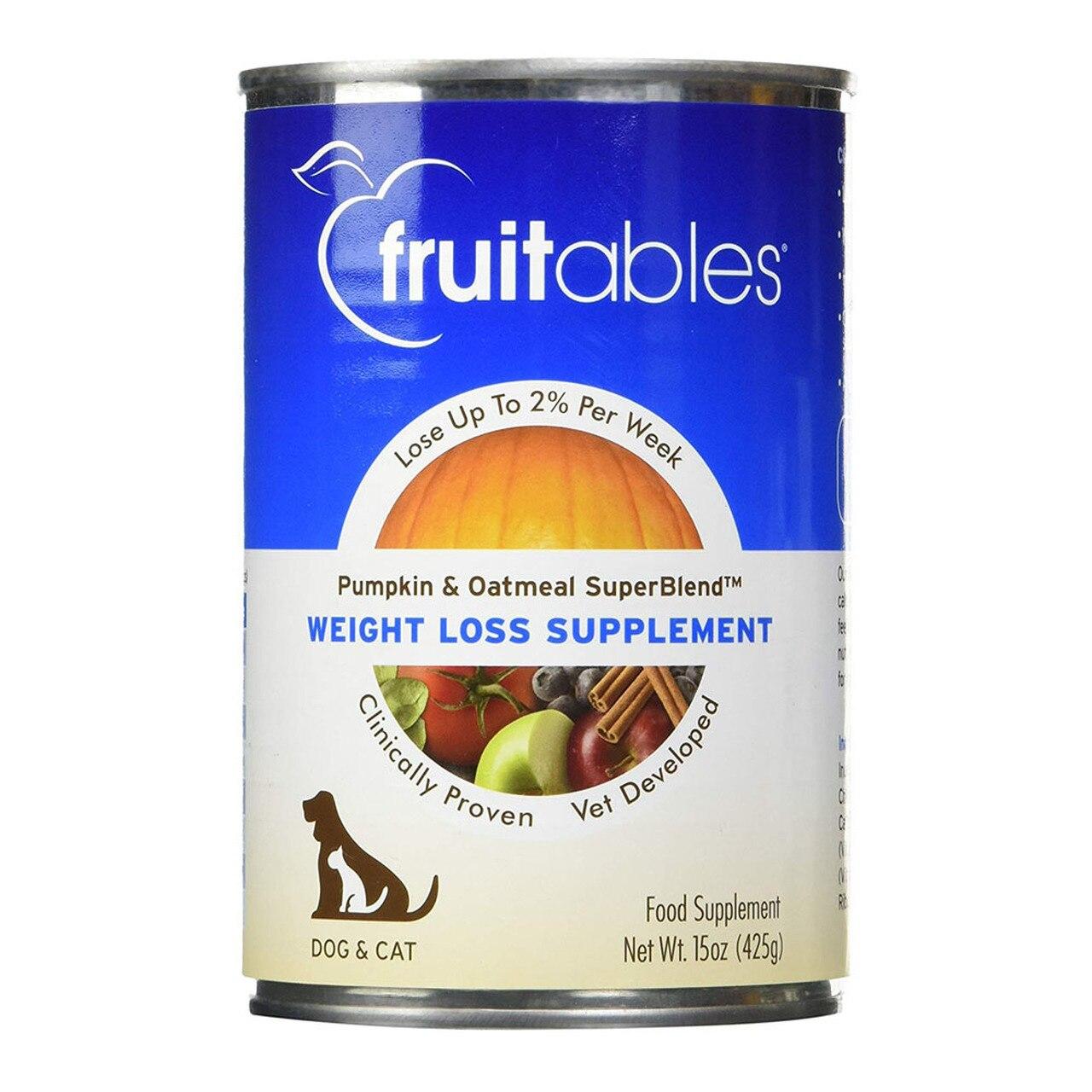 Fruitables Pumpkin and Oatmeal SuperBlend Weight Loss Dog & Cat Supplement, 15-oz