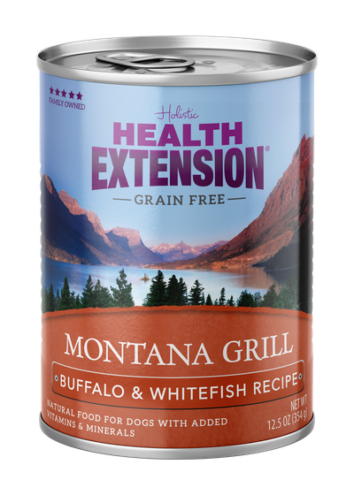 Health Extension Montana Grill Buffalo & Whitefish Recipe Wet Dog Food Image