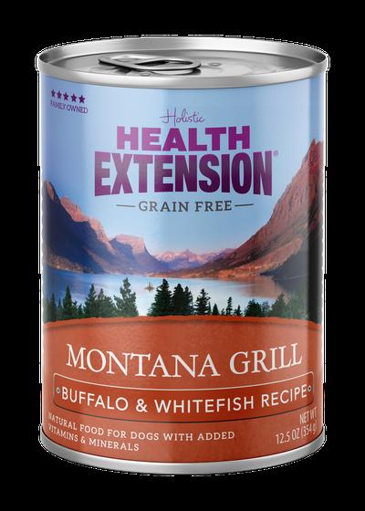 Health Extension Montana Grill Buffalo & Whitefish Recipe Wet Dog Food, 12.5-oz