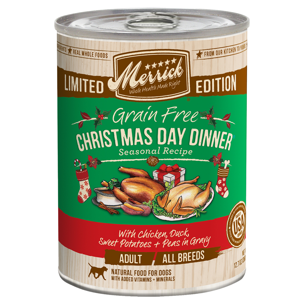 Merrick Limited Edition Grain-Free Christmas Day Dinner Adult Canned Dog Food, 12.7-oz