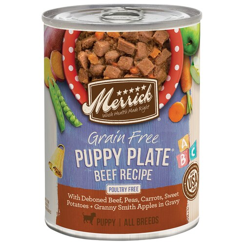 Merrick Grain-Free Puppy Plate Beef Recipe Wet Dog Food Image