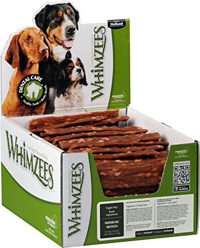 WHIMZEES Veggie Strip Dental Dog Treats, Medium, 100 count