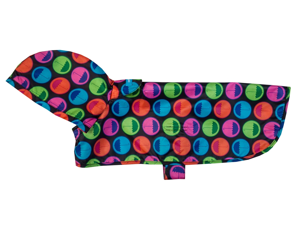 RC Pet Products Packable Rain Umbrella Dog Poncho, Large