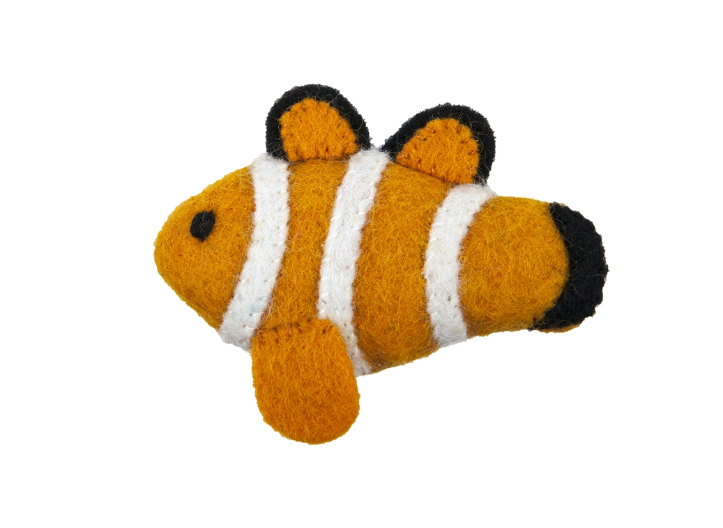 RC Pet Products Wooly Wonkz Under the Sea Clown Fish Cat Toy