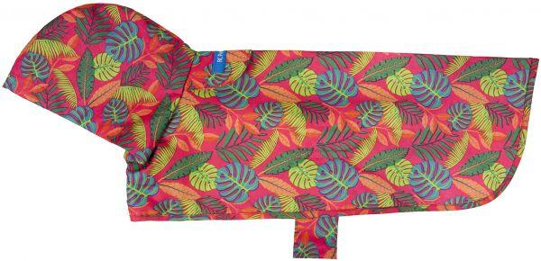 RC Pet Products Packable Rain Tropical Foliage Dog Poncho, Medium