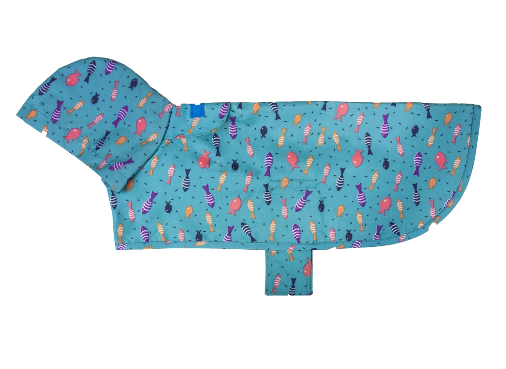 RC Pet Products Packable Rain Shoal Dog Poncho Image