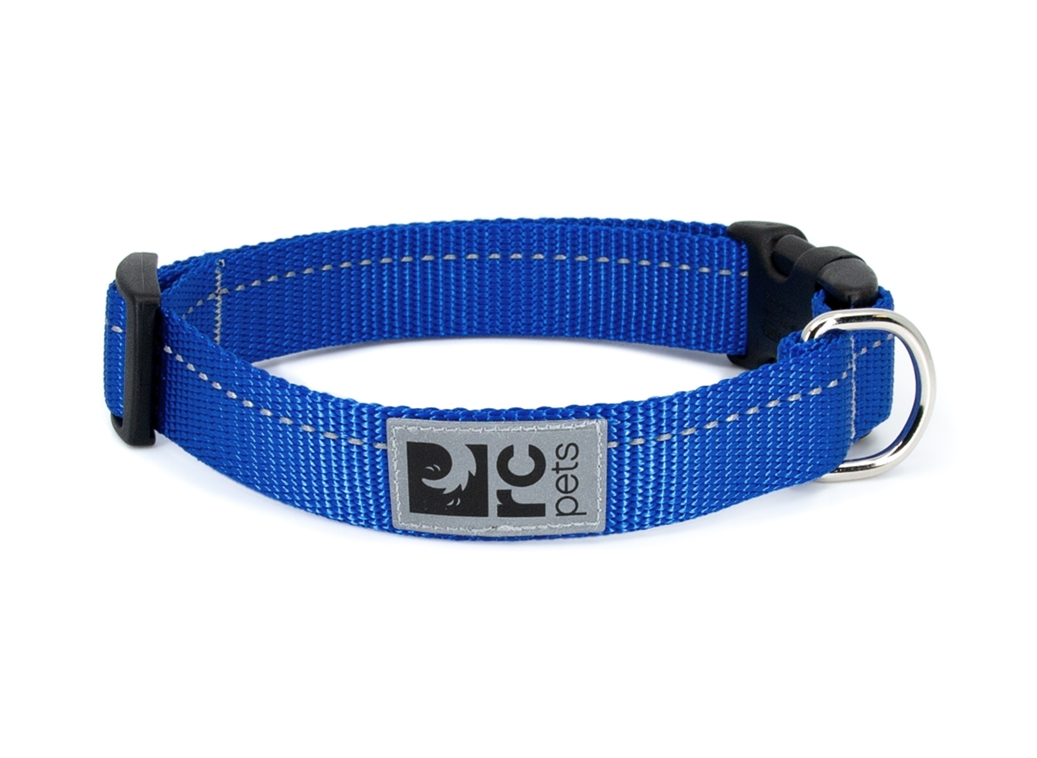 RC Pet Products Primary Clip Royal Blue Dog Collar, XX-Small
