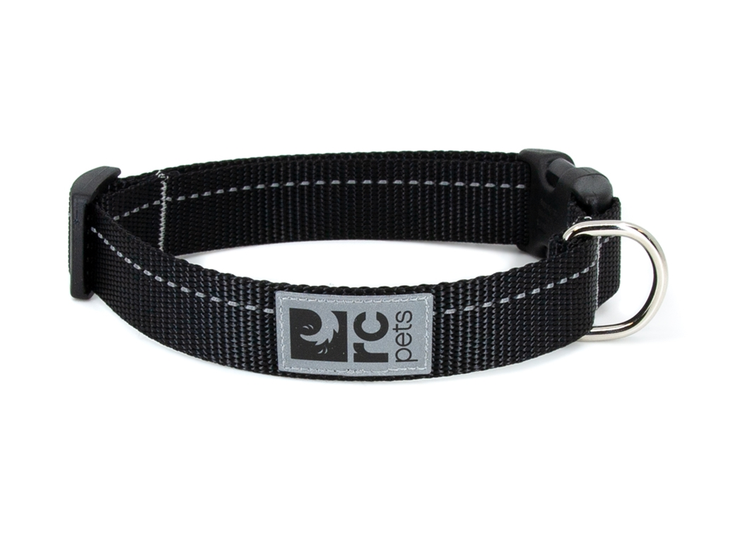 RC Pet Products Primary Clip Black Dog Collar, XX-Small
