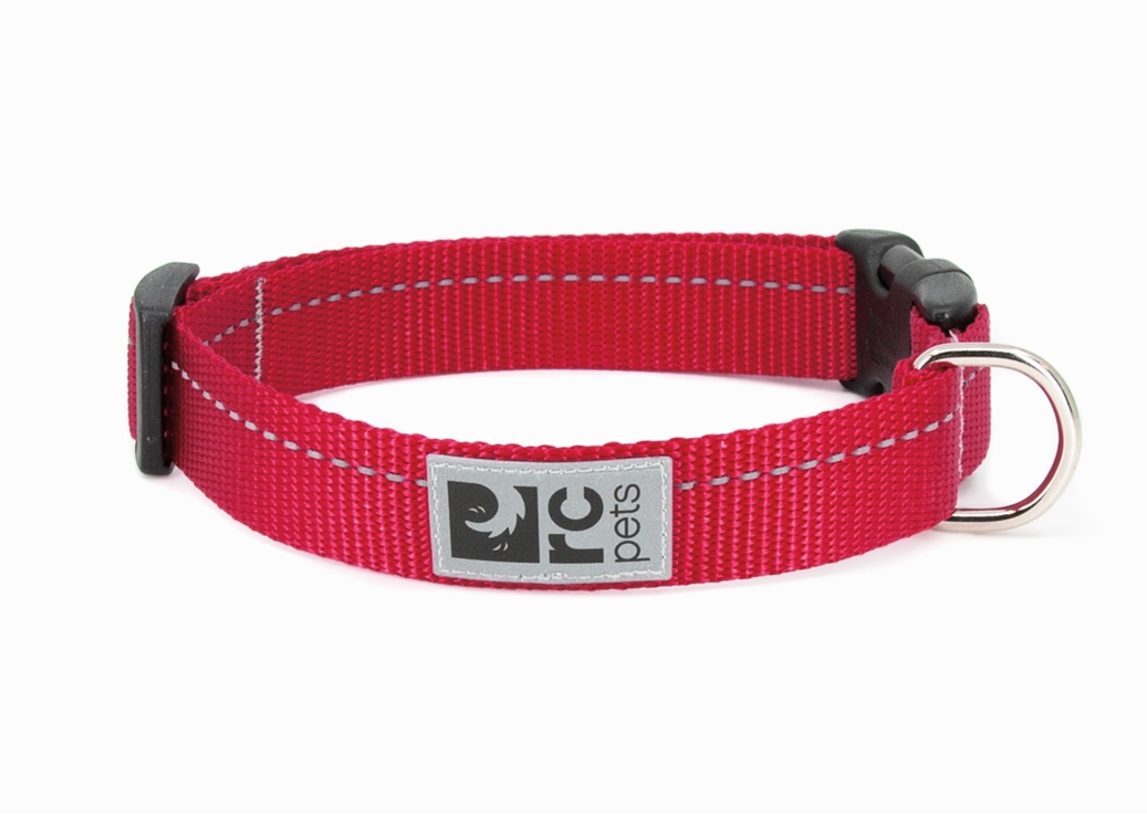 RC Pet Products Primary Clip Red Dog Collar, Large