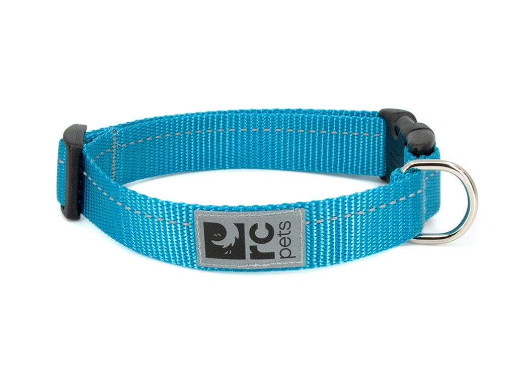 RC Pet Products Primary Clip Cyan Dog Collar, XX-Small