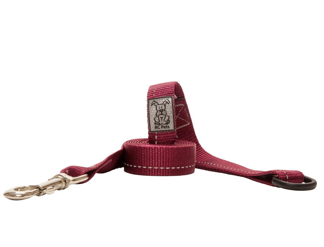 RC Pet Products Primary Burgundy Dog Leash, 0.7inch x 6ft
