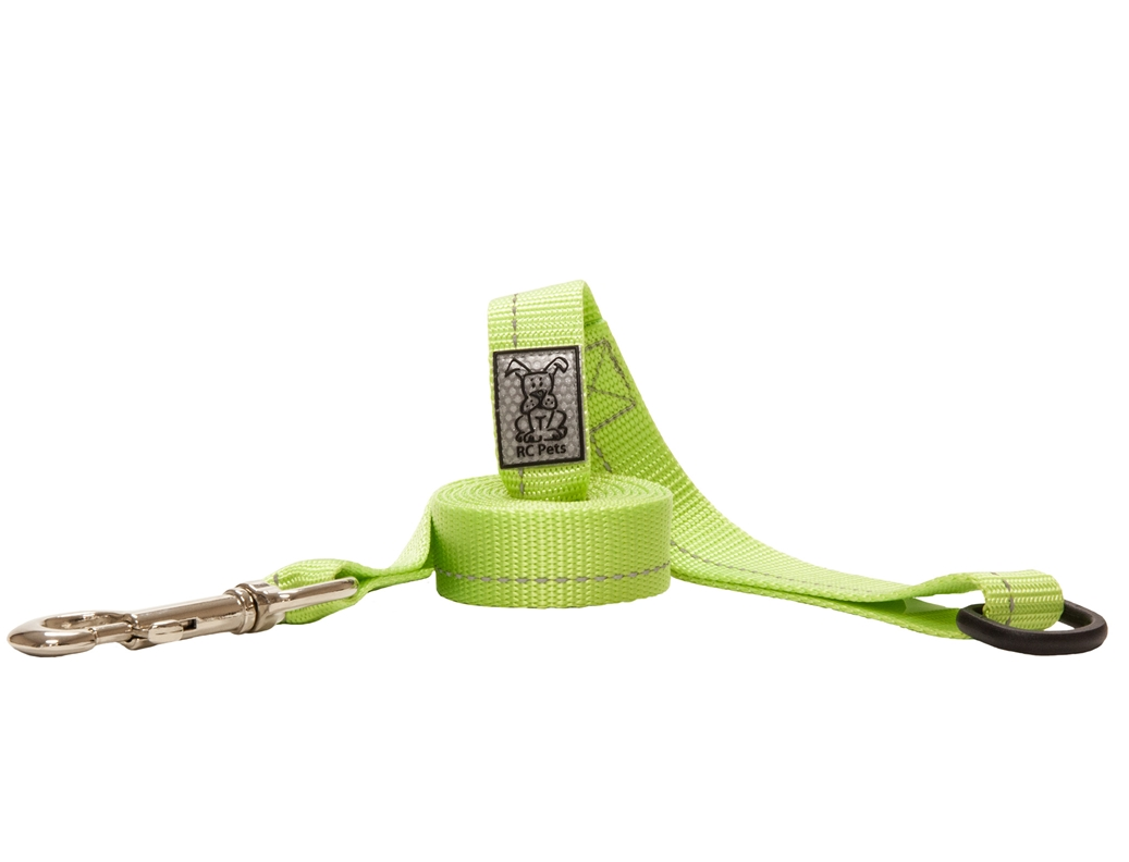 RC Pet Products Primary Dark Lime Dog Leash, 1inch x 6ft