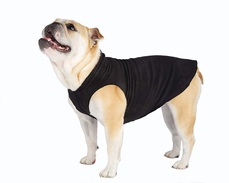 Gold Paw Stretch Fleece Black Dog Coat Image