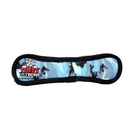 Tuffy's Ultimate Bone Dog Toy, Camo Blue Image