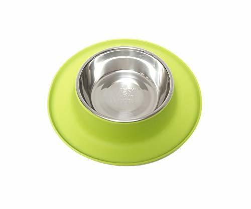 Messy Mutts Silicone Cat Feeder, Green, Medium