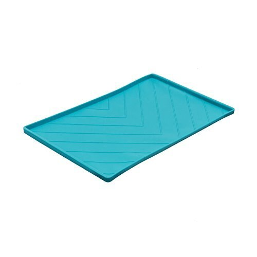 Messy Mutts Silicone Mat with Metal Rods, Blue Image