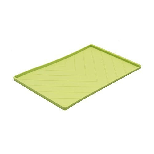 Messy Mutts Silicone Mat with Metal Rods, Green, Medium