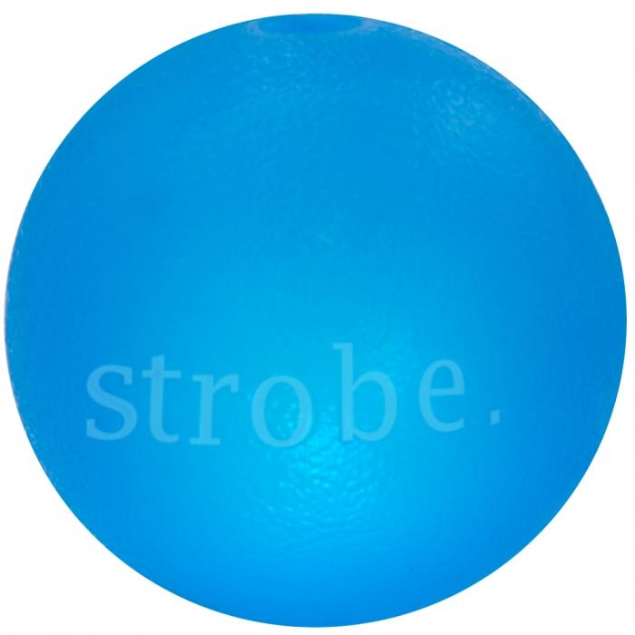 Planet Dog Orbee-Tuff Strobe Light Up Dog Toy, Blue