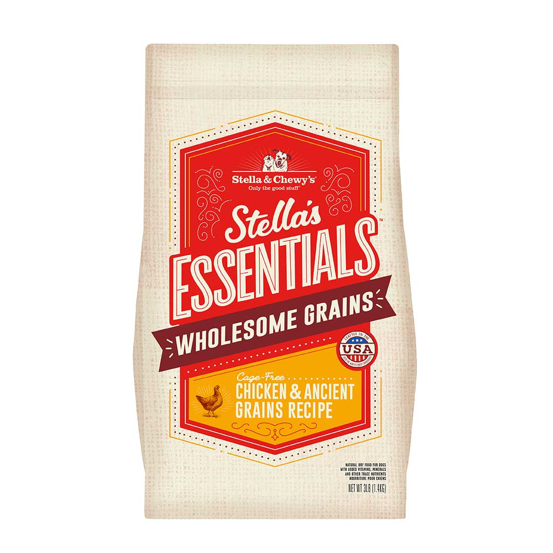 Stella & Chewy's Essentials Wholesome Grains Chicken & Ancient Grains Dry Dog Food, 25-lb