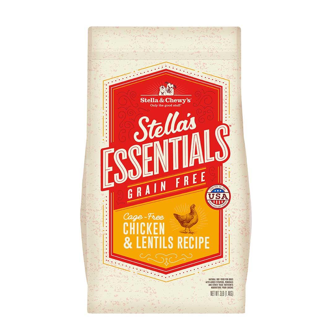 Stella & Chewy's Essentials Grain-Free Chicken & Lentils Dry Dog Food, 25-lb