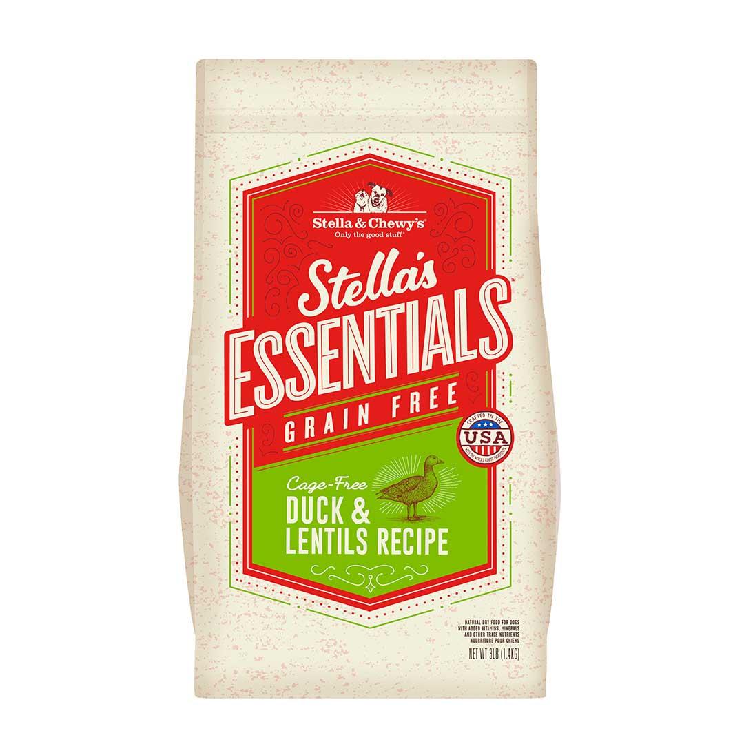 Stella & Chewy's Essentials Grain-Free Duck & Lentils Dry Dog Food, 25-lb