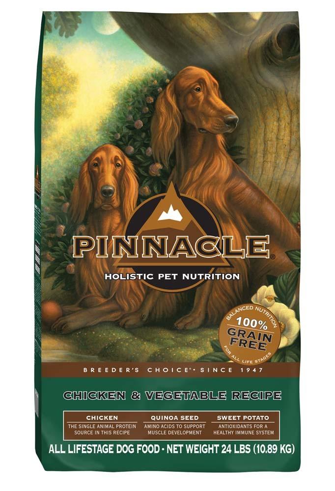 Pinnacle Holistic Pet Nutrition Breeder's Choice Chicken & Vegetable Recipe Dry Dog Food, 24-lb
