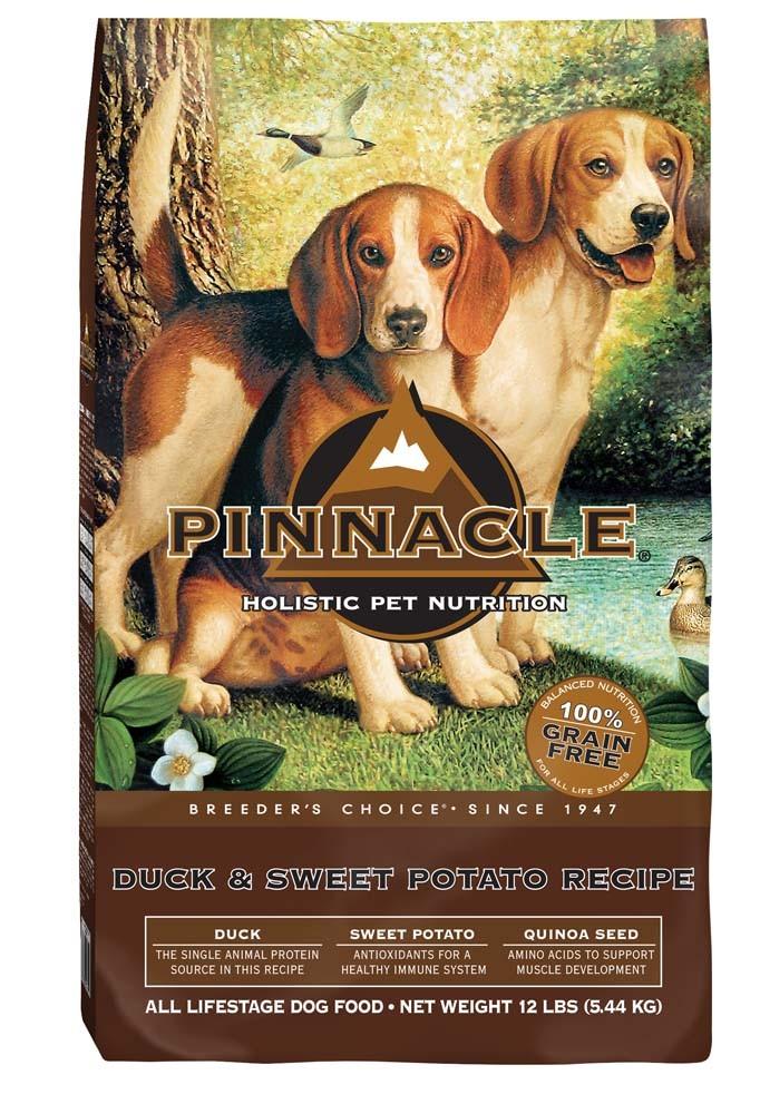 Pinnacle Holistic Pet Nutrition Breeder's Choice Duck & Sweet Potato Recipe Dry Dog Food, 12-lb