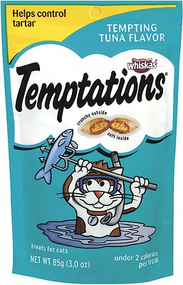 Temptations Tempting Tuna Flavor Cat Treats, 3-oz bag