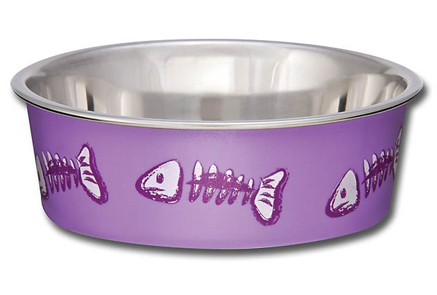 Loving Pets Bella Bowls Pet Bowl, Purple, Lilac Image
