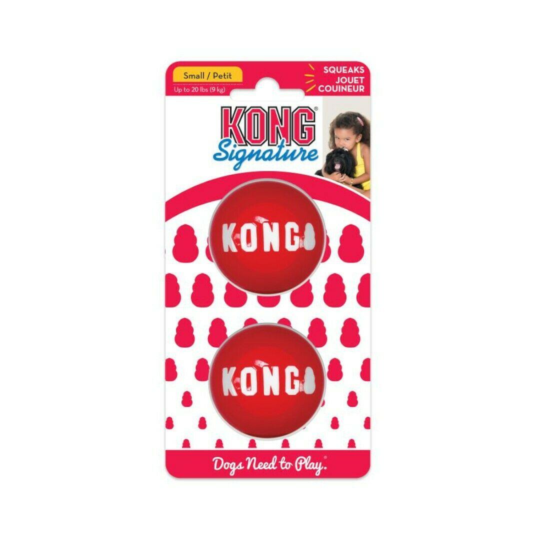 KONG Signature Ball Dog Toy, 2-pack Image