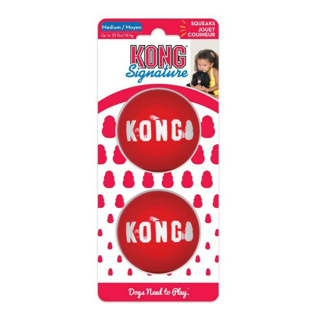 KONG Signature Ball Dog Toy, 2-pack, Medium