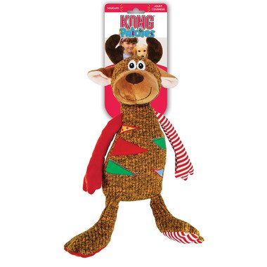 KONG Holiday Patches Reindeer Dog Toy, Large