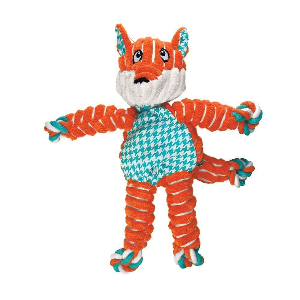 KONG Floppy Knots Fox Dog Toy, Medium/Large